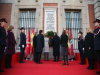 Madryt: Uroczystość na placu Puerta del Sol.