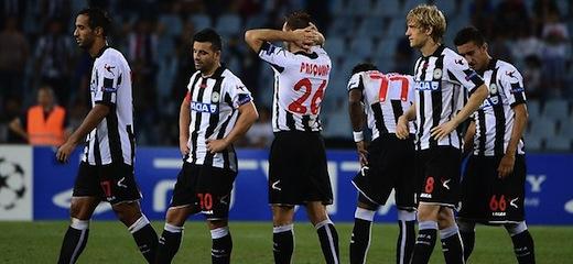 Udinese kontra Braga 1:1 i 4:5 w karnych [bramki]